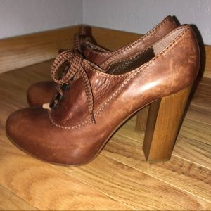 Chloe Silverado Lace-Up Mary Jane Block Heels